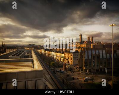 Ciel au-dessus de la spectaculaire Glasgow City Centre Banque D'Images