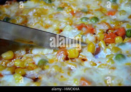 La coupe des pizzas Banque D'Images