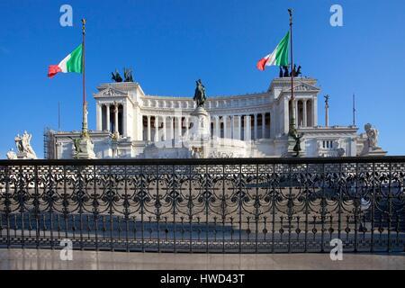 L'Italie, Latium, Rome, connue sous le nom de Altare della Patria et Monument à Piazza Venezia Banque D'Images