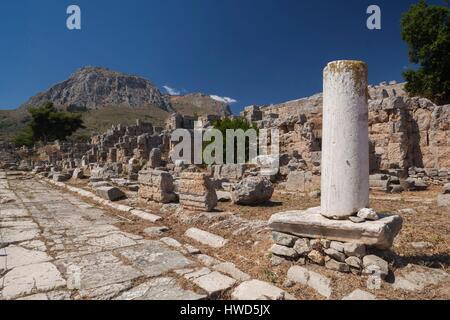 Grèce, Péloponnèse, Corinthe, Région de l'ancienne Corinthe, détail Banque D'Images