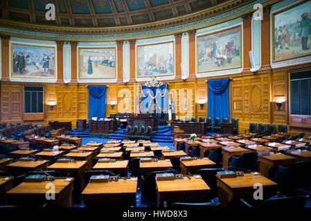 États-unis, Massachusetts, Boston, Massachusetts State House, de la chambre de la chambre des représentants de l'état