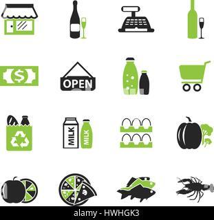Magasin d'icônes simplement pour le web et d'interfaces utilisateur Banque D'Images