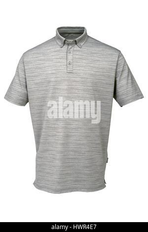 Tee shirt gris pour homme ou femme sur fond blanc Banque D'Images