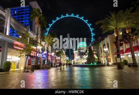 La Grande Roue High Roller à l'hôtel et casino à Linq nuit - Las Vegas, Nevada, USA Banque D'Images