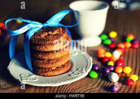 Les cookies au chocolat 2 Banque D'Images