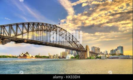 Sydney Harbour Bridge de Milsons Point, Australie.