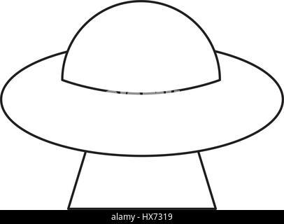 Espace soucoupe UFO flying contours Banque D'Images