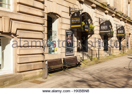 King George's Hall Box Office, Blackburn. Banque D'Images