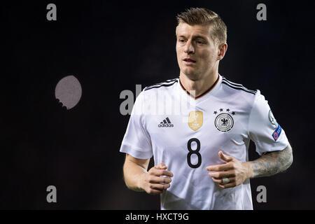 Baku, Azerbaïdjan. Mar 26, 2017. Toni Kroos de l'Allemagne durant la Coupe du Monde de la phase de groupe de qualification Banque D'Images