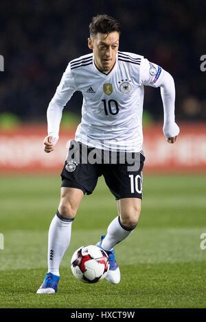 Baku, Azerbaïdjan. Mar 26, 2017. L'Allemagne Mesut Oezil en action au cours de la qualification de la Coupe du Monde Banque D'Images