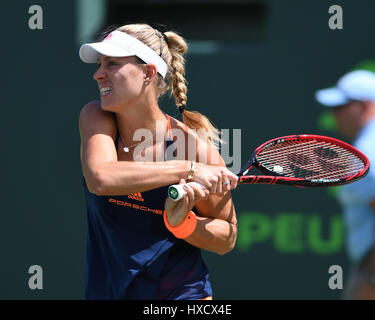 Key Biscayne, Floride, USA. Mar 26, 2017. Angelique Kerber Vs Shelby Rogers au cours de l'Open de Miami à Crandon Banque D'Images