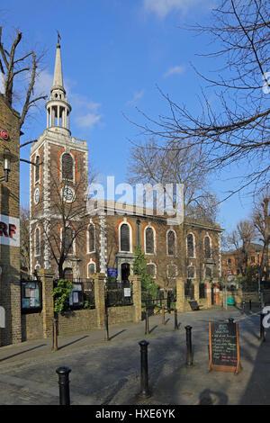 Eglise St Mary the Virgin à Rotherhithe, East London, UK. Conçu par John James - un associé de Sir Christopher Wren. Banque D'Images