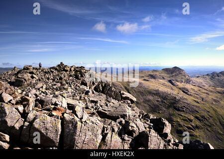 Affichage de l'randonneur sur Cairn Mauvais Crag