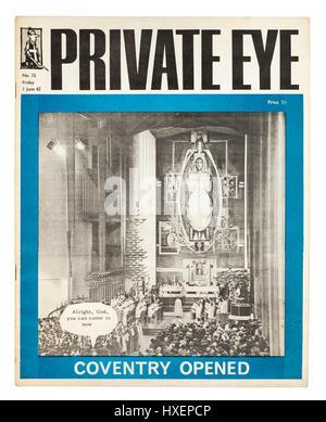 Rare exemplaire de Private Eye magazine (Issue No 12 daté du vendredi 1er juin 1962) avec l'ouverture de la nouvelle Banque D'Images