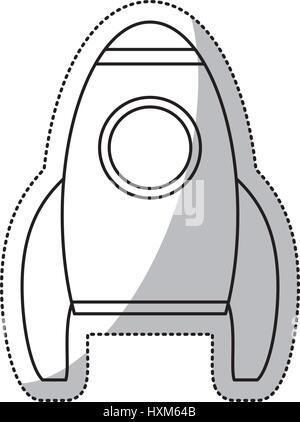 Aperçu de l'espace transport fusée Banque D'Images