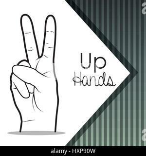 La conception de la langue des signes Banque D'Images