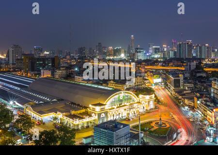 BANGKOK, THAÏLANDE, le 5 février: la gare centrale de Bangkok (Hua Lamphong Railway Station) le 5 février 2017 Banque D'Images