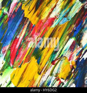 Peinture à l'huile avec texture bigarrée coups de pinceau. Résumé fond coloré Banque D'Images