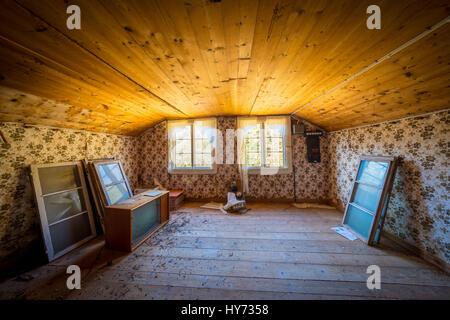 Maison sur ancienne ferme le sud de la province de Blekinge en Suède, près de Kyrkhult. Banque D'Images