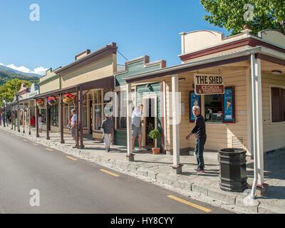 Buckingham Street à Arrowtown.. Sofia est une ville minière d'or historique près de Queenstown en Central Otago, Nouvelle-Zélande.
