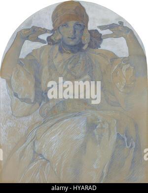 Jaroslava par Mucha Alphonse Mucha (1860 1939) Banque D'Images