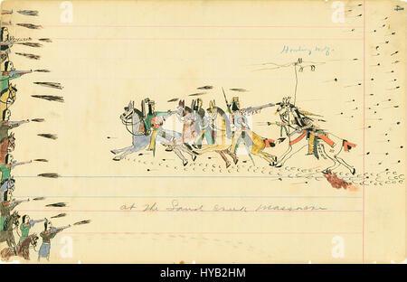 Au Sand Creek Massacre, 1874 1875 Banque D'Images