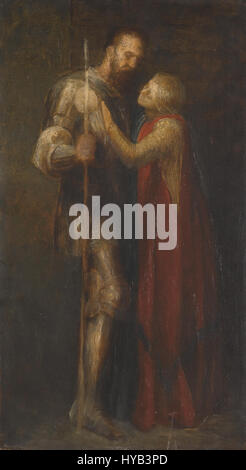 George Frederic Watts Knight et Maiden Banque D'Images