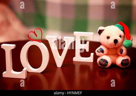 Amour saint valentin forme Banque D'Images