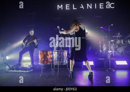 O2 Shepherd's Bush Empire, London, UK 8 avril 2017, Melanie C Melanie C L'exécution en concert à l'O2 Shepherd's Bush Empire, Crédit: Richard Soans/Alamy Live News