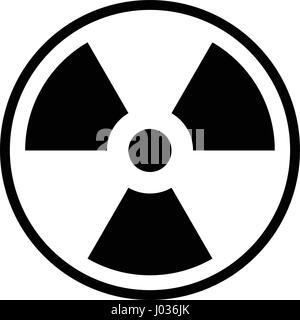 Icône radioactifs d'illustration vectorielle stock modèle plat