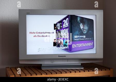 Sky sur demande pub TV Allemagne Banque D'Images