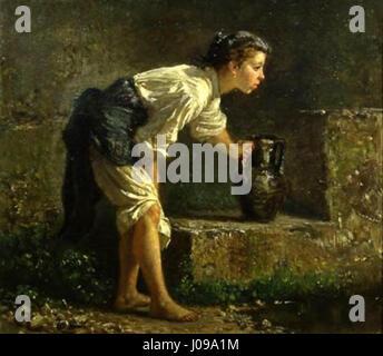 Jeune fille napolitaine à la source - Mary Cassatt (1844) 1926 E28093 Banque D'Images