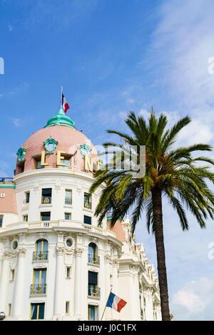 Hôtel Negresco, Nice, Alpes Maritimes, Côte d'Azur, Provence, France Banque D'Images