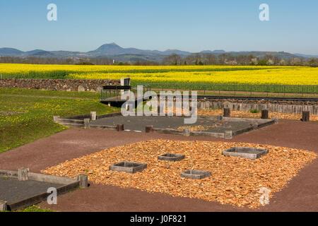 Oppidum gaulois de Corent, site archéologique, Puy de Dome, France, Europe