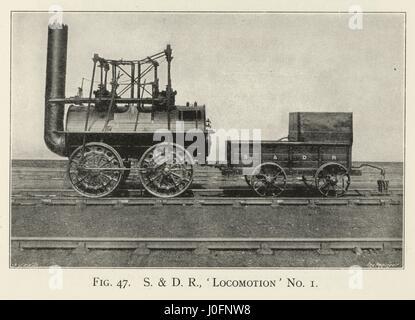 Stockton et Darlington Railway 'Locomotion' n° 1. L'origine du nom 'Active' c'est la première locomotive à vapeur Banque D'Images