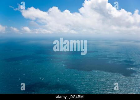 Seascape, vue aérienne, Grande Barrière de Corail, Queensland, Australie Banque D'Images