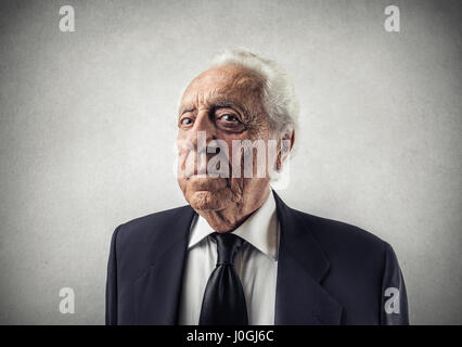 Portrait d'ancien businessman Banque D'Images