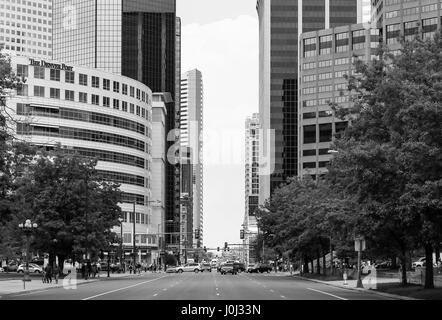 Denver, États-Unis - 25 mai 2016: partie de la colline du Capitole, au centre-ville, y compris l'avenue Broadway Banque D'Images