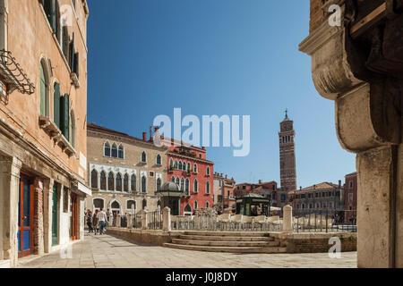 Campo Sant'anzolo dans sestiere de san marco, Venise, Italie. Banque D'Images