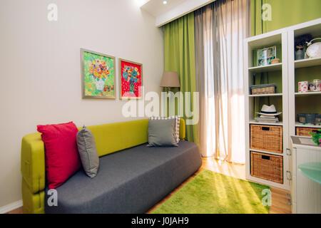 La chambre des enfants. Design d'intérieur chambre d'enfants dans l'appartement. Banque D'Images