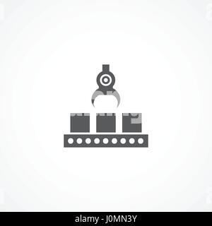 L'icône de la ligne de production Banque D'Images