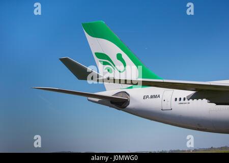 Mahan Air Airbus A340 Iran Téhéran Banque D'Images