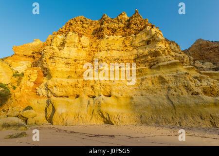 Rock formations sur clifs Algarve au Portugal Banque D'Images
