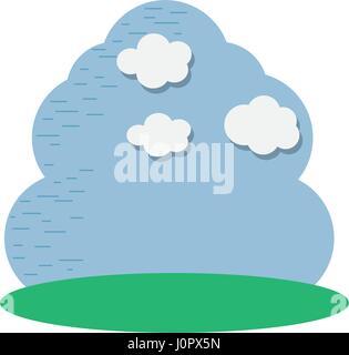Beau ciel avec belle icône de nuage