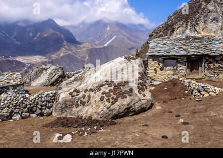 À partir d'une randonnée dans la région de l'Everest à lukla, Gokyo Gokyo Ri et le Mt Everest camp de base Banque D'Images