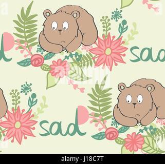 Vector cartoon bear Banque D'Images