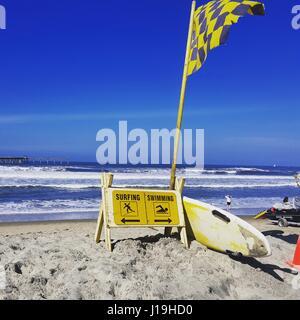 Surf/natation Banque D'Images