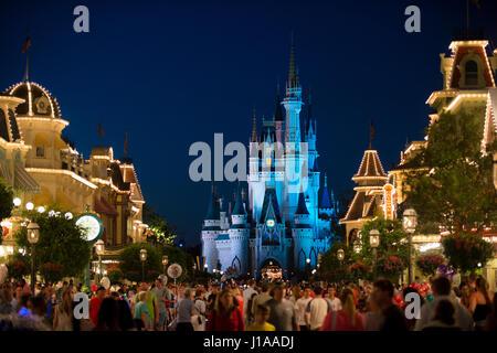 Parade de Walt Disney World à Orlando en Floride fireworks night & USA Banque D'Images