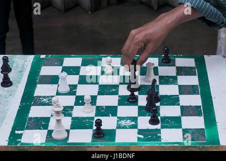 L'homme jouant aux échecs. man playing chess