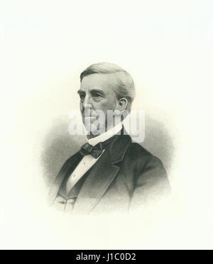 Oliver Wendell Holmes, Sr (1809-94), médecin américain, éducateur, poète, et auteur, Portrait, gravure, 1876 Banque D'Images
